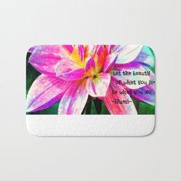 Quotes-Rumi Bath Mat