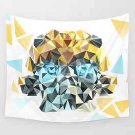 Bumblebee Low Poly Portrait Wall Tapestry