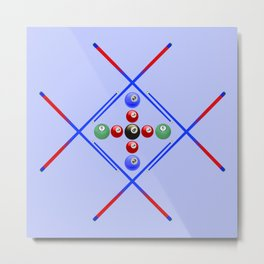 Pool Game Design v3 Metal Print