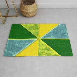 Abs Geometry lemon Rug