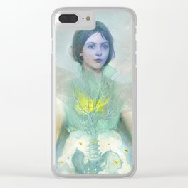 The green firefly Clear iPhone Case