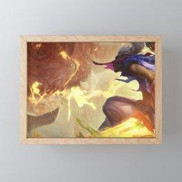 Sandstorm Ekko League of Legends Framed Mini Art Print