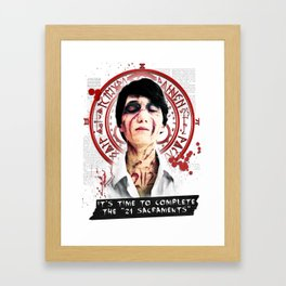 """Silent Hill - It's time to complete the """"21 Sacraments"""" Framed Art Print"""
