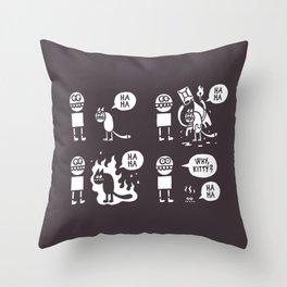 Why, Kitty? Throw Pillow