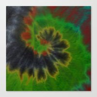 tie dye Canvas Prints featuring tie dye by Mylittleradical