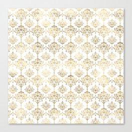 White & Gold Motif Canvas Print