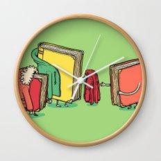 Book Jackets Wall Clock