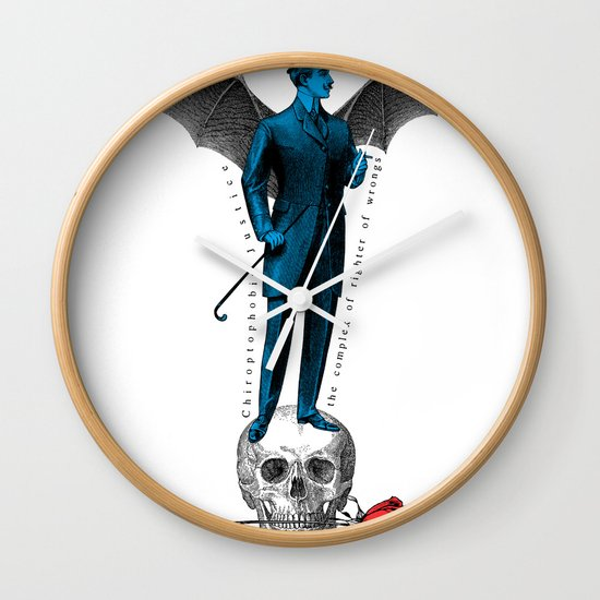 the complex of righter of wrongs Wall Clock