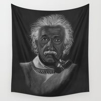 einstein Wall Tapestries featuring Einstein by Paula Leão