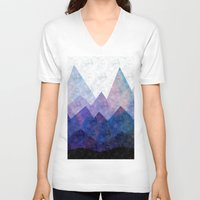 samsung V-neck T-shirts featuring Fresh Peaks by Cullen Rawlins