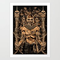 THE EGYPT ZOMBIE Art Print