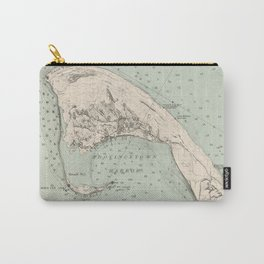 Vintage Map of Provincetown MA (1892) Carry-All Pouch