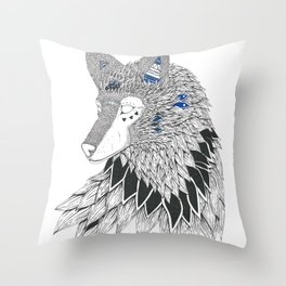 O-oookami Throw Pillow