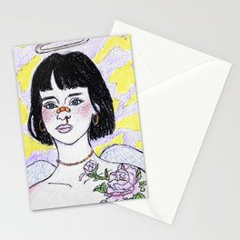 Angel girl Stationery Cards