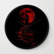 Rainman in Red Wall Clock