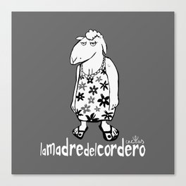 LA MADRE DEL CORDERO (aka THE LAMB'S MOTHER) Canvas Print