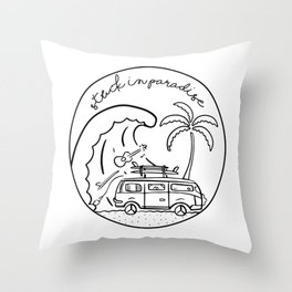 Stuck in Paradise Throw Pillow