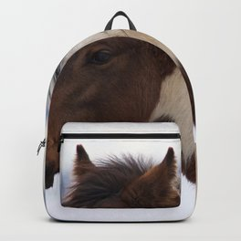 Tri-Colored Horse Backpack