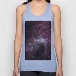 Abstract Purple Space Image Unisex Tank Top