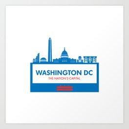 Washington DC Illustration Art Print