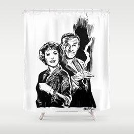 BURNS & ALLEN Shower Curtain