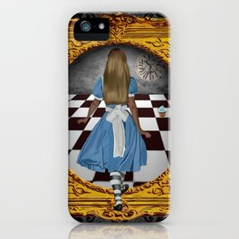 Through the looking glass iPhone Case