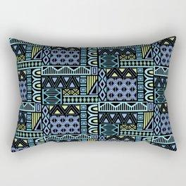 Purple Geometric Rectangular Pillow