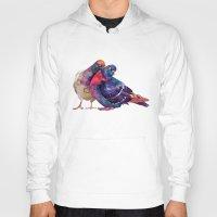 takmaj Hoodies featuring Pigeons by takmaj