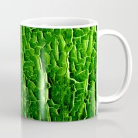 vegetable Mugs featuring green vegetable by clemm