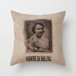 Honore de Balzac Throw Pillow