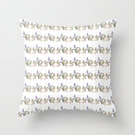Violet Tulips Throw Pillow