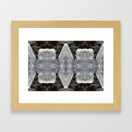 Diamond Ice Jewels Nature Image by Deba Cortese Framed Art Print