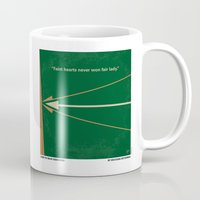 robin hood Mugs featuring No237 My Robin Hood minimal movie poster by Chungkong