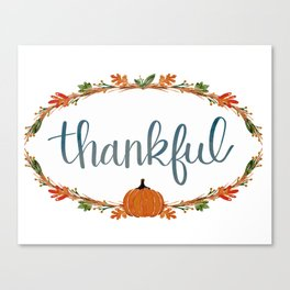 Fall - Thankful Canvas Print