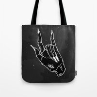 loll3 Tote Bags featuring Idle Hand by lOll3