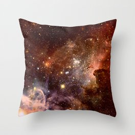 Carina Nebula Earth Tones Throw Pillow