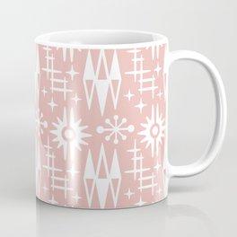 Mid Century Modern Atomic Space Age Pattern Dusty Rose Coffee Mug