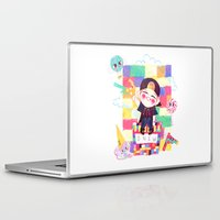 shinee Laptop & iPad Skins featuring Downtown Baby SHINee by sophillustration