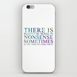 Nonsense iPhone Skin