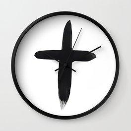 Watercolor Cross Wall Clock