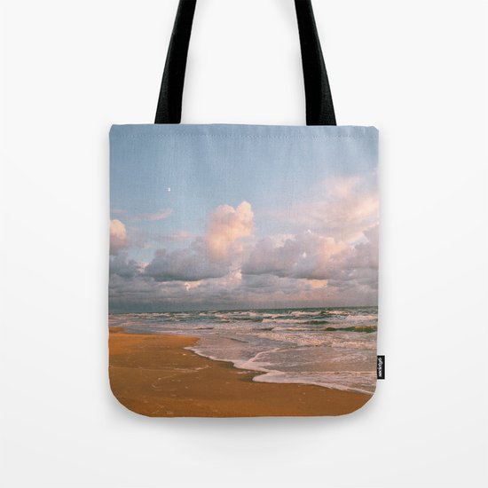 Moon over the Beach Tote Bag