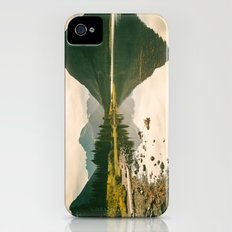 Mountain Reflecting the Lake in Many Glacier  Slim Case iPhone (4, 4s)