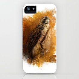 Expressions Red Tailed Hawk iPhone Case