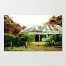 My late Mum's Farm House Canvas Print