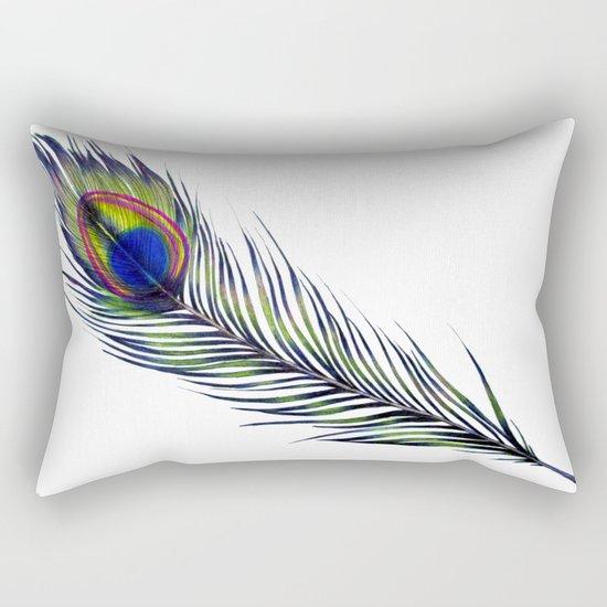 The Peacock's Feather Rectangular Pillow