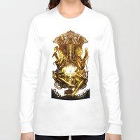 ganesha Long Sleeve T-shirts featuring Ganesha by Giorgio Finamore