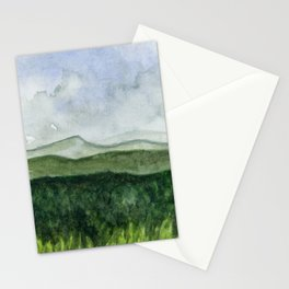 Distant Mountains Stationery Cards