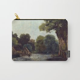 "Gustave Courbet ""The Weir at the Mill"" Carry-All Pouch"