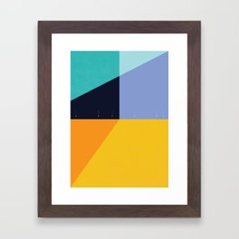 Fleece, Fog, Farallon Framed Art Print