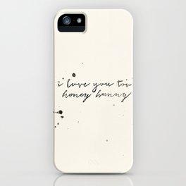 Honey Bunny iPhone Case